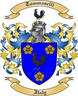 Tommaselli Family Coat of Arms from Italy