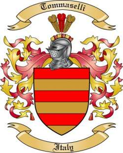 Tommaselli Family Coat of Arms from Italy2