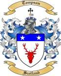 Tompson Family Coat of Arms from Scotland
