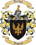 Tonkyn Family Crest from England