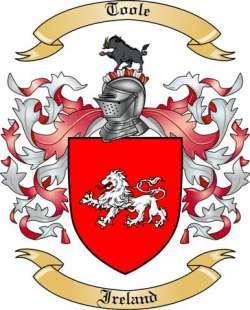 toole family crest from ireland by the tree maker