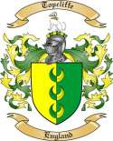 Topcliffe Family Crest from England
