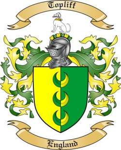 Topliff Family Coat of Arms from England