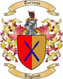 Torrens Family Crest from England
