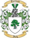 Torrienti Family Crest from Italy