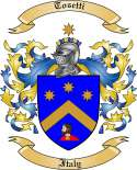 Tosetti Family Crest from Italy