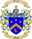 Toso Family Crest from Italy