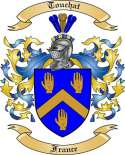 Touchat Family Crest from France