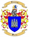 Toures Family Coat of Arms from Wales