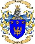 Tovey Family Coat of Arms from England
