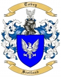 Tovey Family Coat of Arms from Scotland