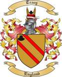 Tracy Family Crest from England