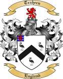 Trahern Family Crest from England