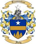 Tramontani Family Crest from Italy