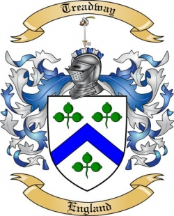 treadway family crest from england by the tree maker