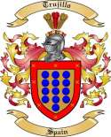 Trujillo Family Coat of Arms from Spain