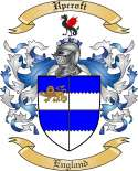Upcroft Family Crest from England