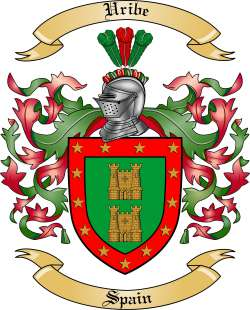 uribe family crest from spain by the tree maker