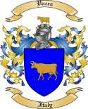 Vacca Family Crest from Italy