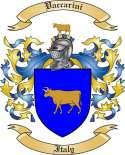 Vaccarini Family Crest from Italy