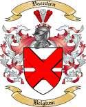 Vaentjen Family Crest from Belgium
