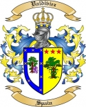 Valdiviez Family Crest from Spain