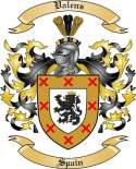 Valens Family Crest from Spain