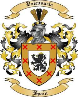 Valensuela Family Coat of Arms from Spain