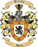 Valentin Family Crest from Spain