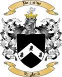 Valentine Family Coat of Arms from England