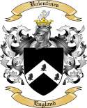 Valentines Family Coat of Arms from England