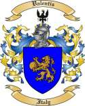 Valentis Family Crest from Italy