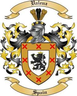 Valenz Family Crest from Spain