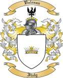 Valenza Family Coat of Arms from Italy