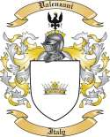 Valenzani Family Crest from Italy