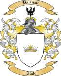 Valenzia Family Crest from Italy