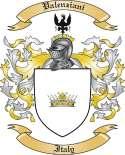 Valenziani Family Crest from Italy