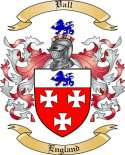 Vall Family Coat of Arms from England