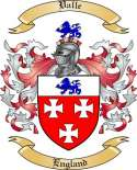 Valle Family Crest from England