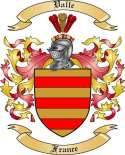 Valle Family Crest from France2