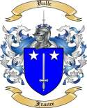 Valle Family Crest from France