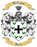 Vallegaz Family Coat of Arms from Spain
