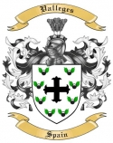 Valleges Family Coat of Arms from Spain
