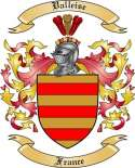 Valleise Family Crest from France