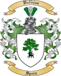Vallejos Family Crest from Spain