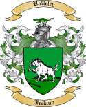 Valleley Family Crest from Ireland