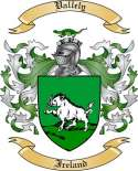 Vallely Family Coat of Arms from Ireland