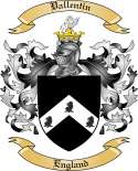 Vallentin Family Crest from England