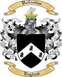 Vallentine Family Crest from England