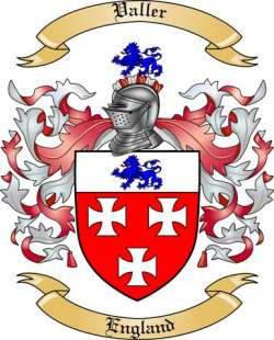 Valler Family Coat of Arms from England